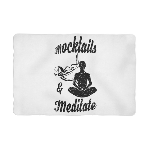 Mocktails&meditate Sublimation Pet Blanket