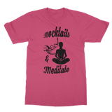 Mocktails&meditate Classic Adult T-Shirt Printed in UK