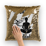 Mocktails&meditate Sequin Cushion Cover