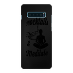 Mocktails&meditate Back Printed Black Hard Phone Case
