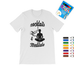 Mocktails&meditate Colouring T-Shirt