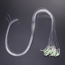 30pcs/pack Luminous Fishing Hook with line