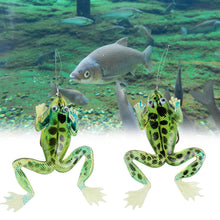 2pcs Soft Frogs Fishing Lure