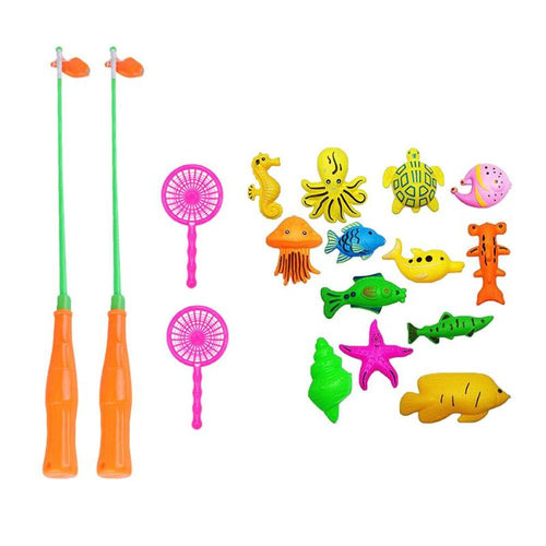 14pcs/set Children's Magnetic Fishing Game