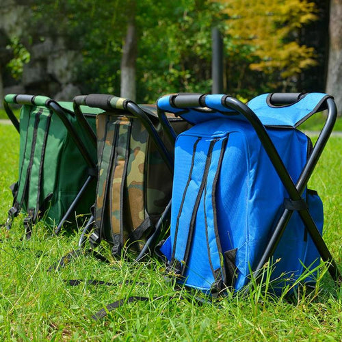 Folding Fishing Chair and Backpack Cooler