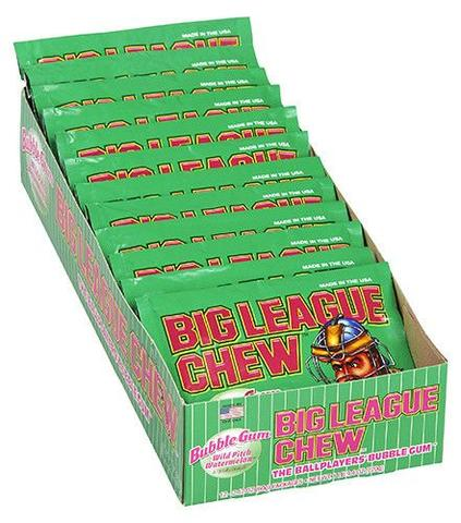 Big League Chew Watermelon (Pack Of 12)