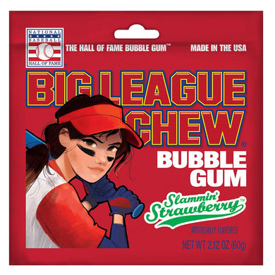 Big League Chew Bubble Gum Slammin' Strawberry