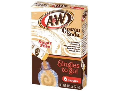 A&W Cream Soda Singles To Go 6 Count