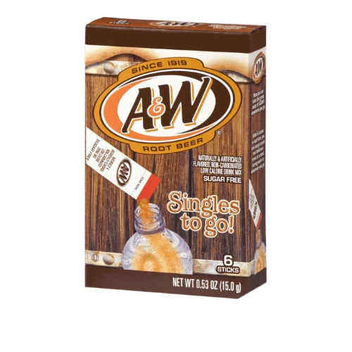 A&W Root Beer Singles To Go 6 Count