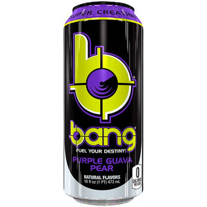 Purple Guava Pear Bang Energy Drink