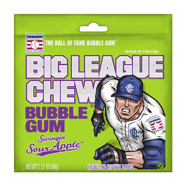 Big League Chew Bubble Gum Sour Apple