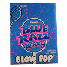 Load image into Gallery viewer, Blue Razz Berry Blow Pops (48 Count)