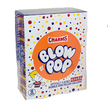 Load image into Gallery viewer, Cherry Bubble Gum Filled Blow Pops (48 Count)
