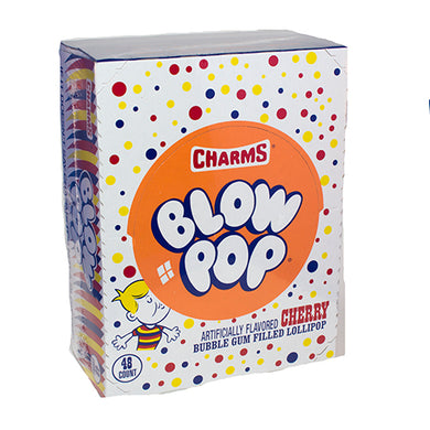 Cherry Bubble Gum Filled Blow Pops (48 Count)