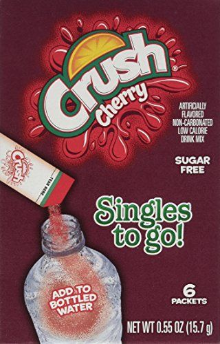 Crush Cherry Singles To Go 6 Count