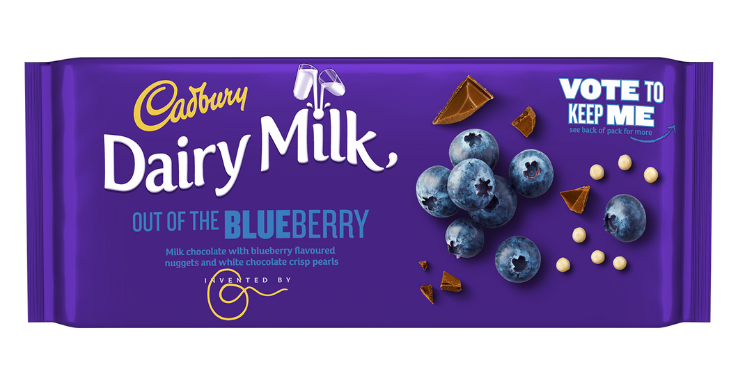 Dairy Milk Out Of The Blueberry
