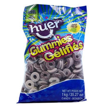 Load image into Gallery viewer, Sour Grape Rings 1kg Bag