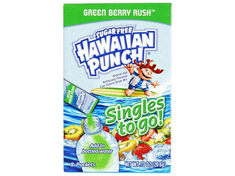 Hawaiian Punch Green Berry Rush Singles To Go 6 Count