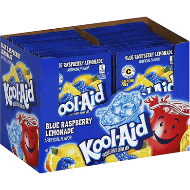 Kool Aid Blue Raspberry Lemonade 48 Count Box