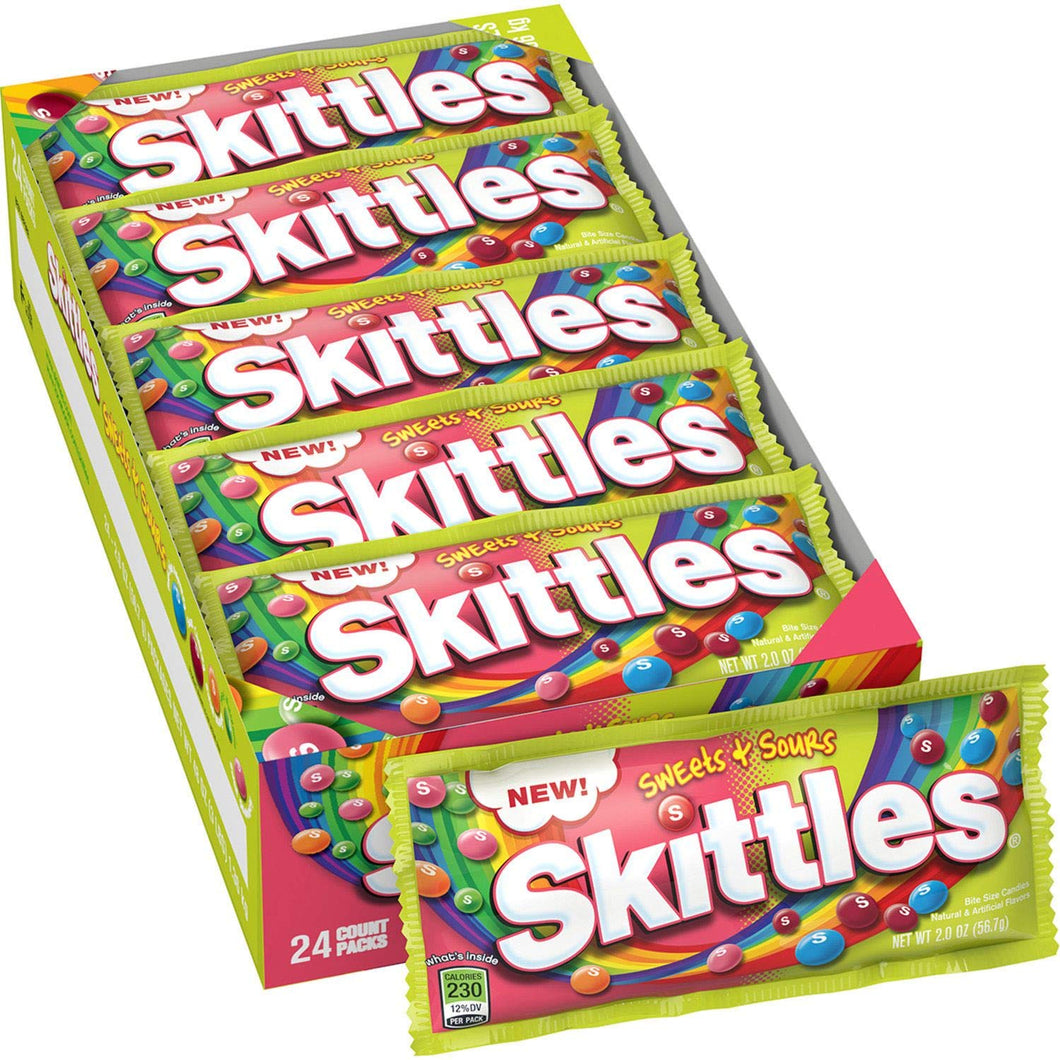 Skittles Sweets And Sours (Box Of 24)