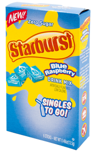 Starburst Blue Raspberry Singles To Go 6 Count