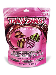 Tangy Zangy Milk Chocolate Sour Fruit Slices