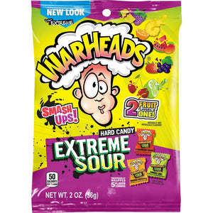 Warheads Extreme Sour Smash Ups Hard Candy