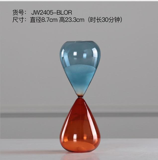 15/30/60 Minutes Orange & Blue Colored Hourglass Clock
