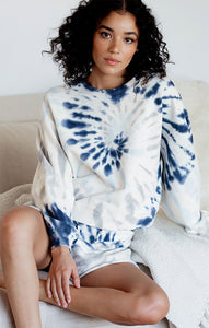 SweatersGenoa Striped Sweater By Rag Poets Tie-Dye