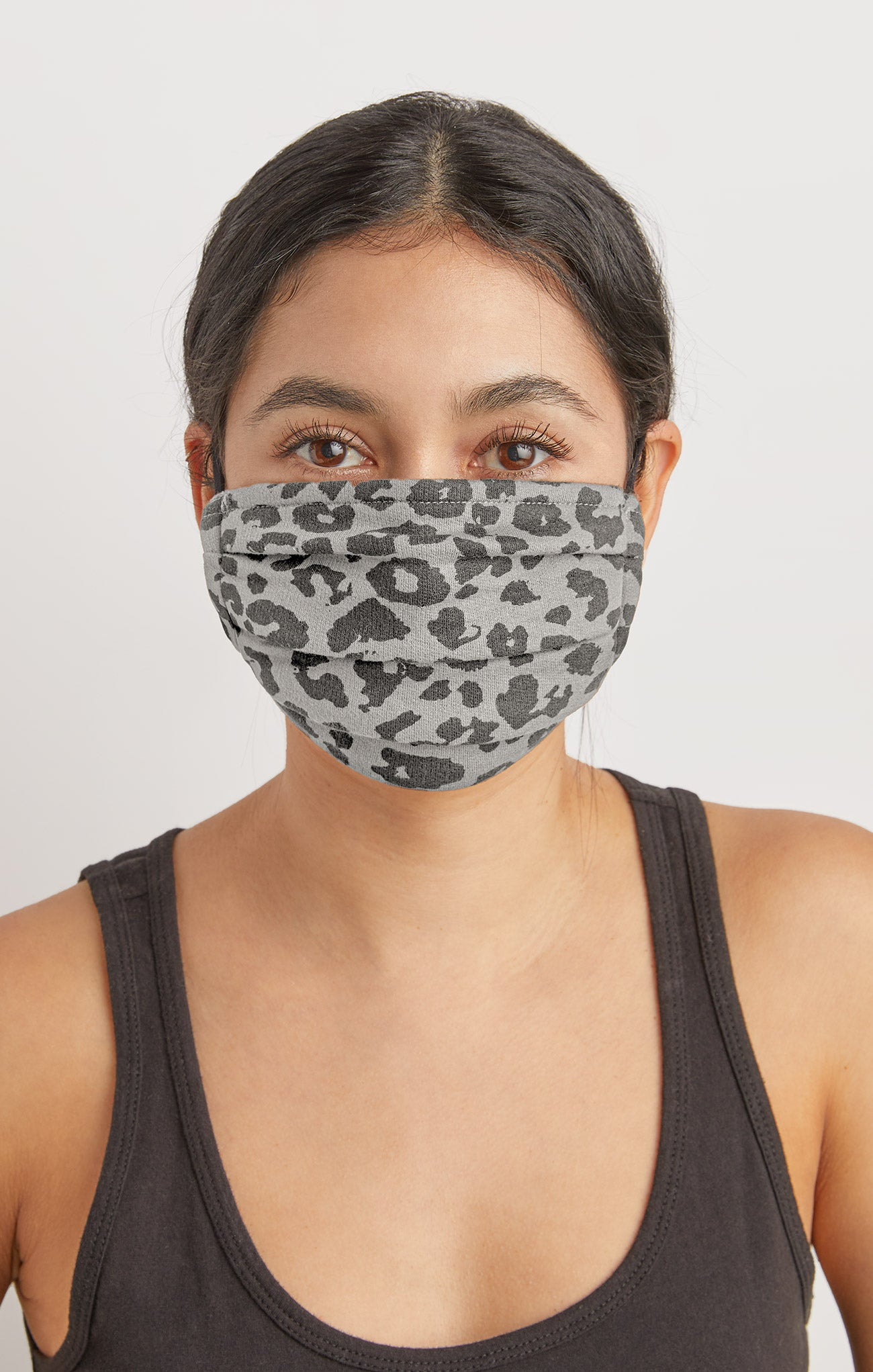 Accessories Grey Leopard Reusable Face Mask (2-Pack) Leo Grey / Black