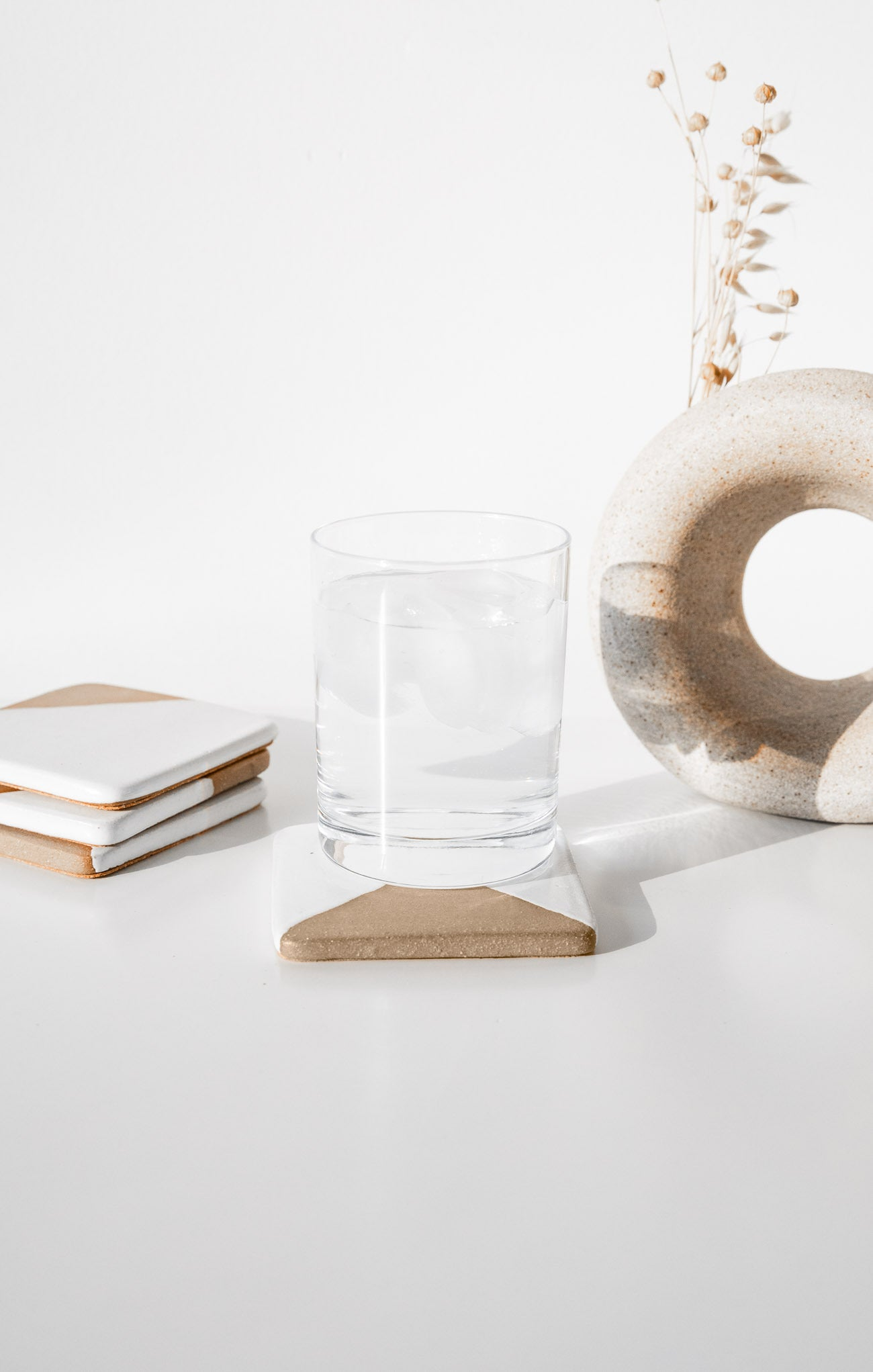 Ceramics Blocked Coasters (Set of 4) By The Hive Ceramics Multi