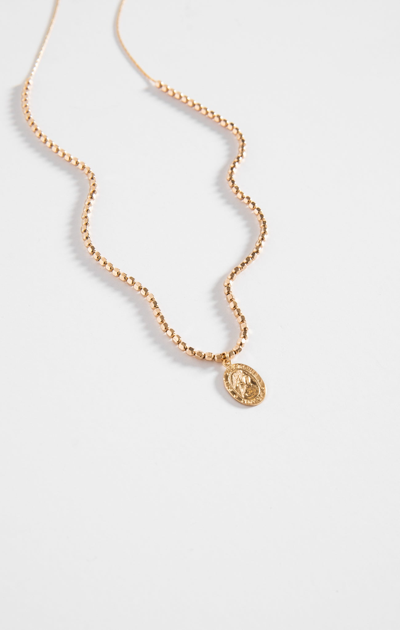 Jewelry St. Christopher Necklace By FLEURI Gold