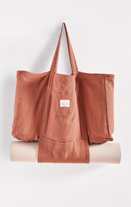 Sustainable GiftsHemp Market Bag By The Sunshine Series Terra Cotta