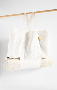 Sustainable GiftsHemp Market Bag By The Sunshine Series White