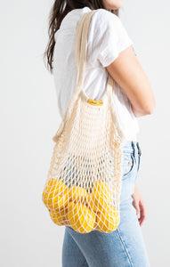 Sustainable GiftsOrganic Cotton Net Tote By The Sunshine Series Natural