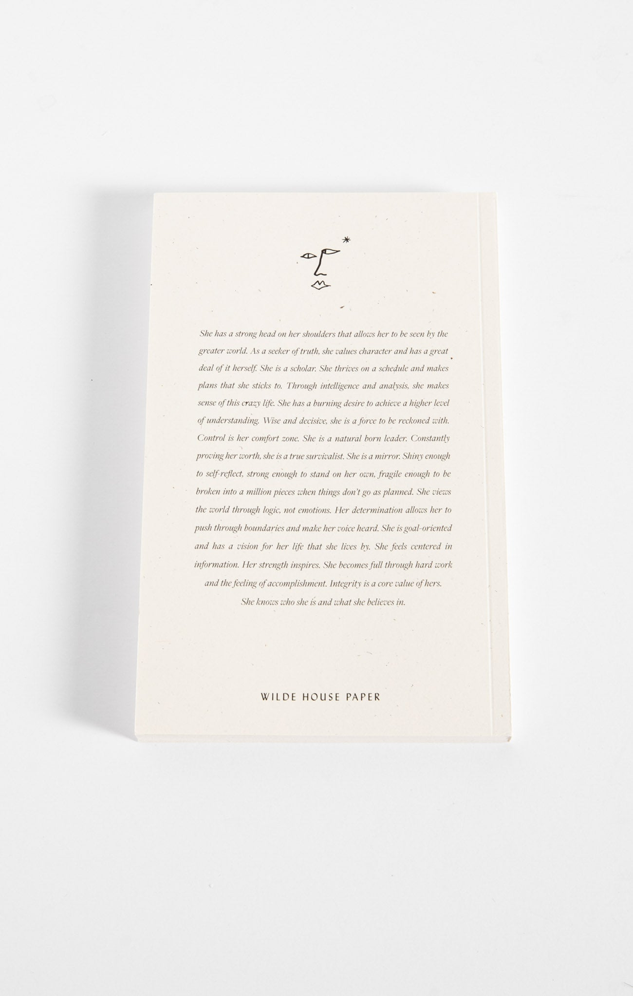 Paper Goods The Realist Journal by Wilde House Paper Multi