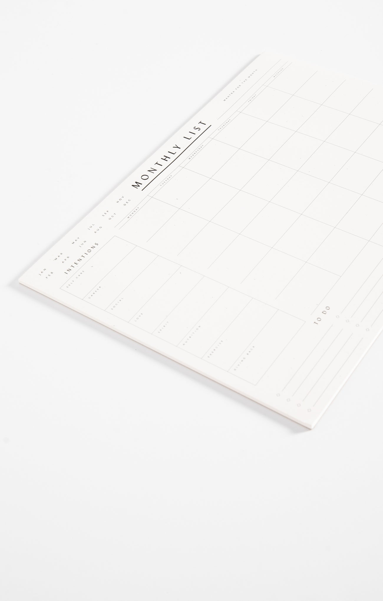 Paper Goods Monthly List Pad by Wilde House Paper Monthly List Pad by Wilde House Paper