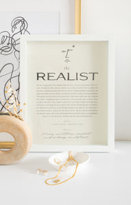 Paper GoodsThe Realist Art Print by Wilde House Paper The Realist Art Print by Wilde House Paper