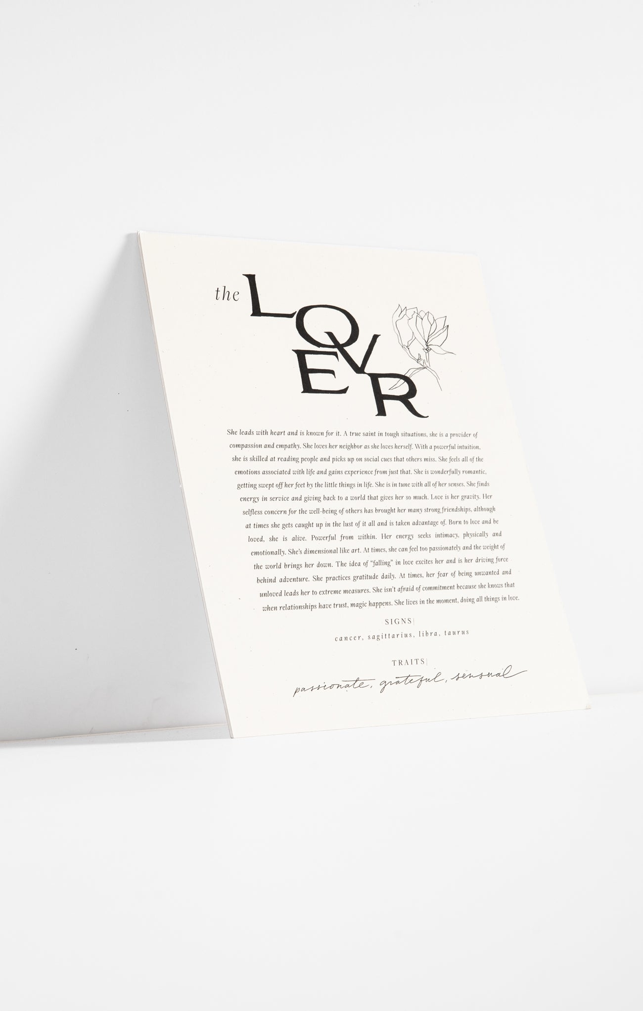 Paper Goods The Lover Art Print by Wilde House Paper Multi