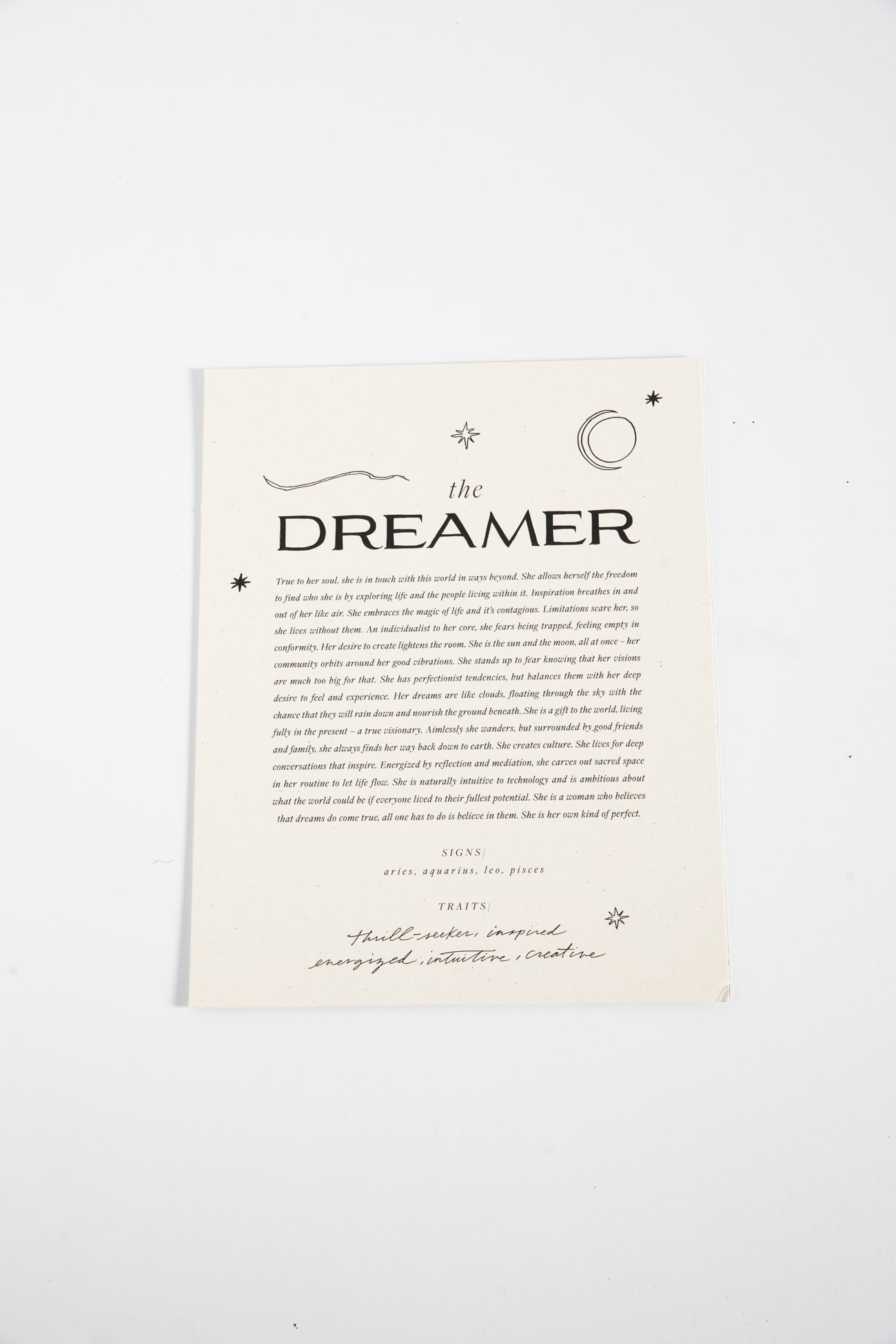 Paper Goods The Dreamer Art Print by Wilde House Paper The Dreamer Art Print by Wilde House Paper