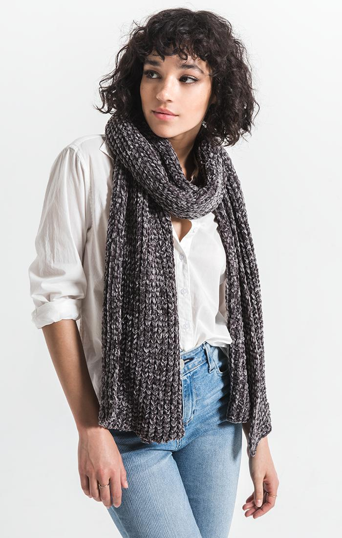 Accessories Jeanie Oblong Knitted Scarf By Rag Poets Tornado