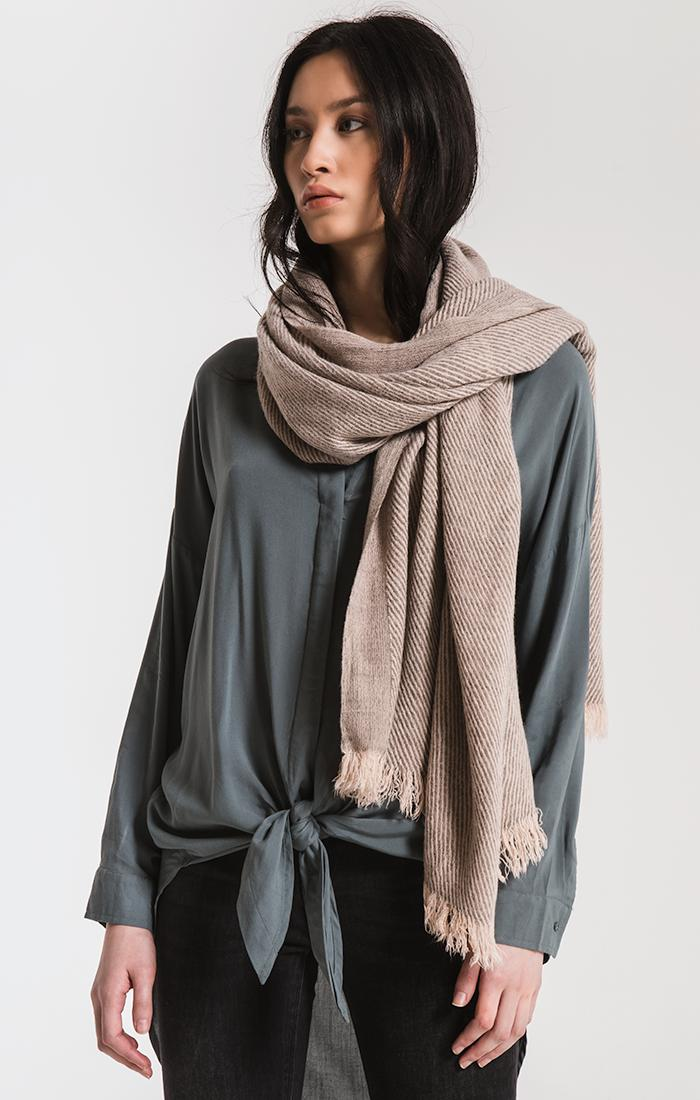 Accessories Amici Frayed Scarf By Rag Poets Peach Whip