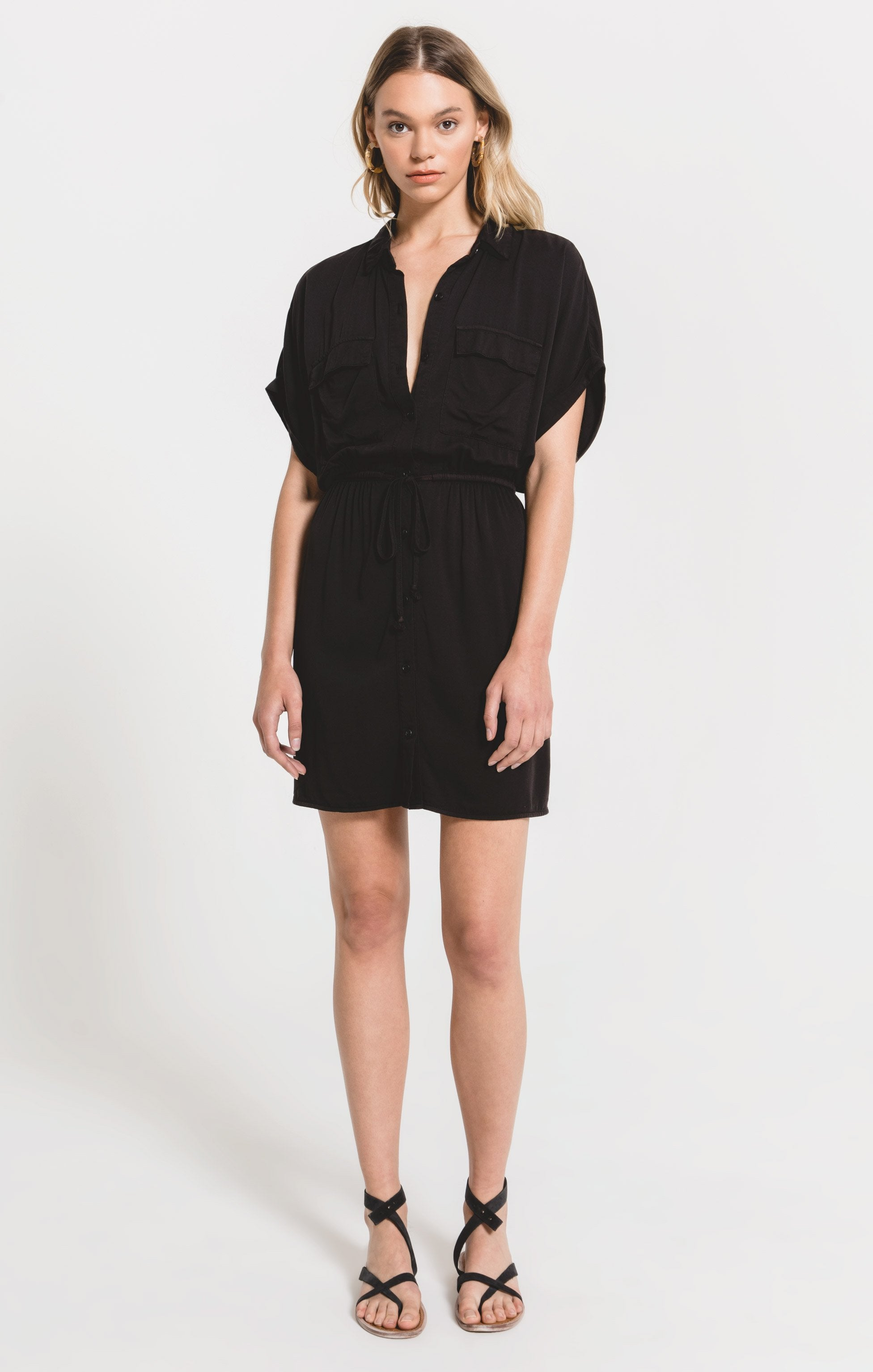 Dresses Adria Dress by Rag Poets Washed Black