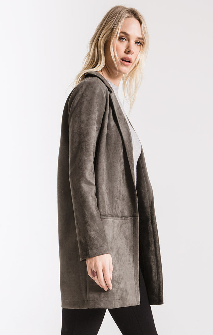 Coats Bond Faux Suede Coat By Rag Poets Beluga