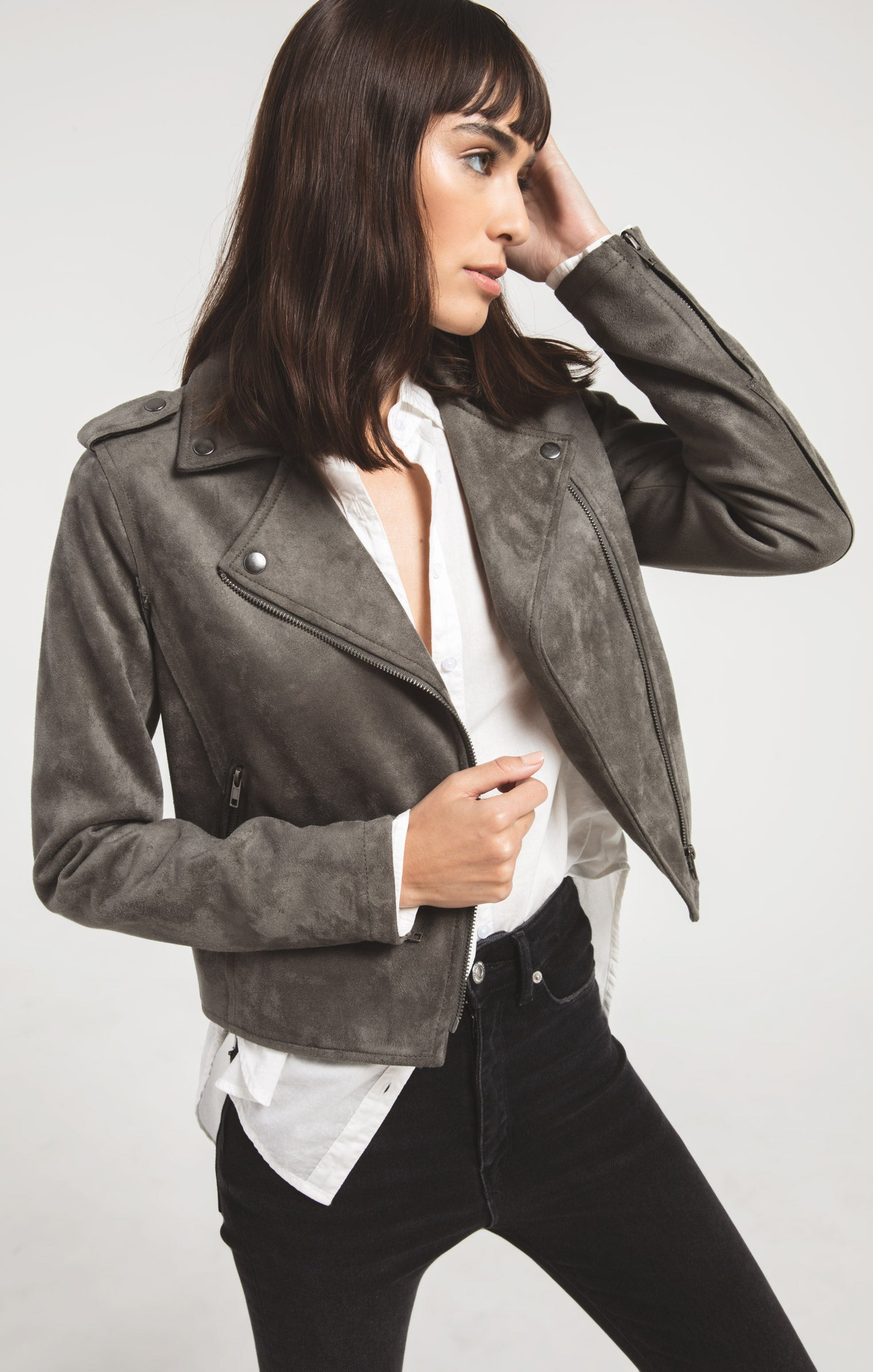Jackets Everit Biker Jacket By Rag Poets Beluga