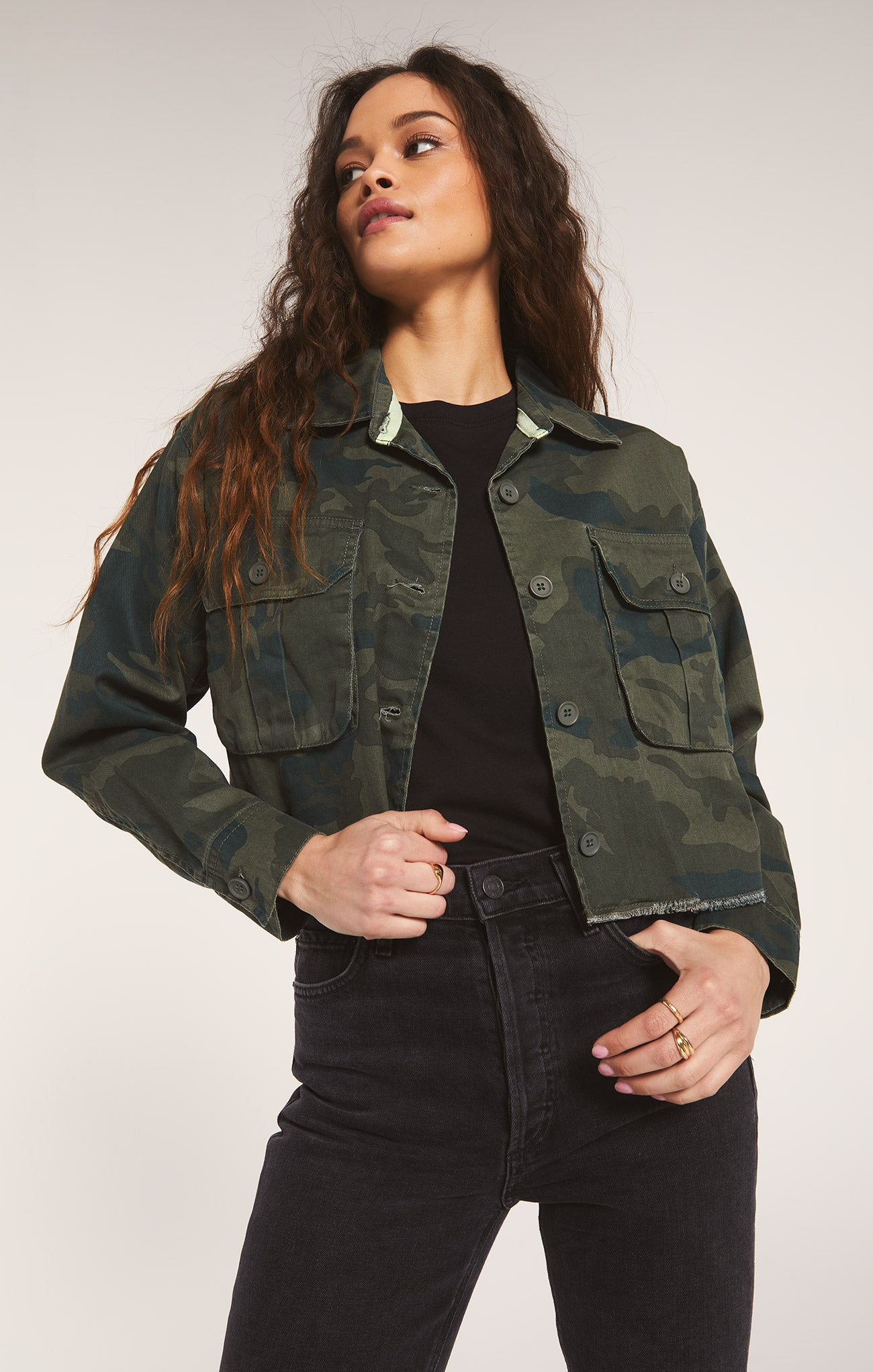 Jackets Savona Camo Jacket by Rag Poets Deep Forest