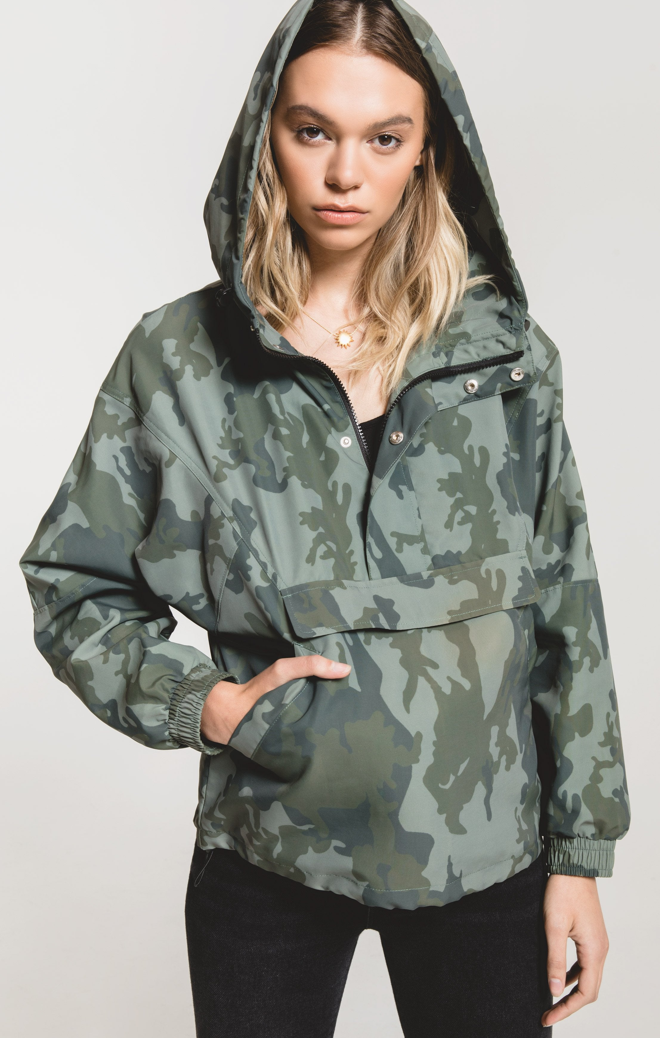 Jackets Parma Camo Jacket by Rag Poets Deep Forest