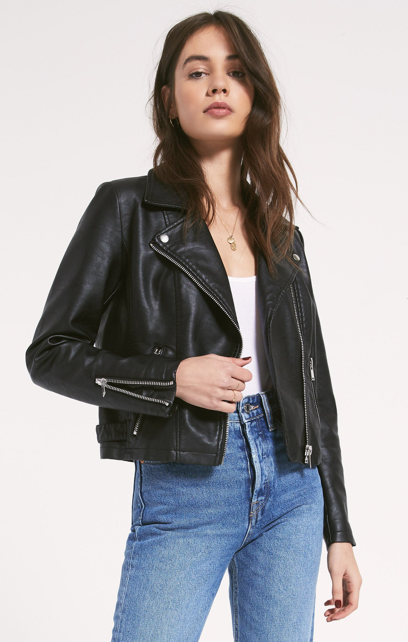 Jackets Devin Biker Jacket by Rag Poets Black