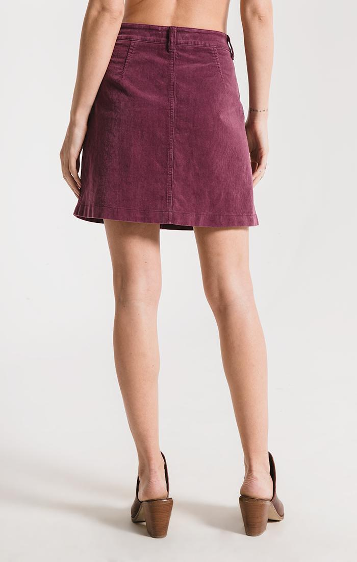 Skirts Barclay Corduroy Skirt By Rag Poets Plum Wine