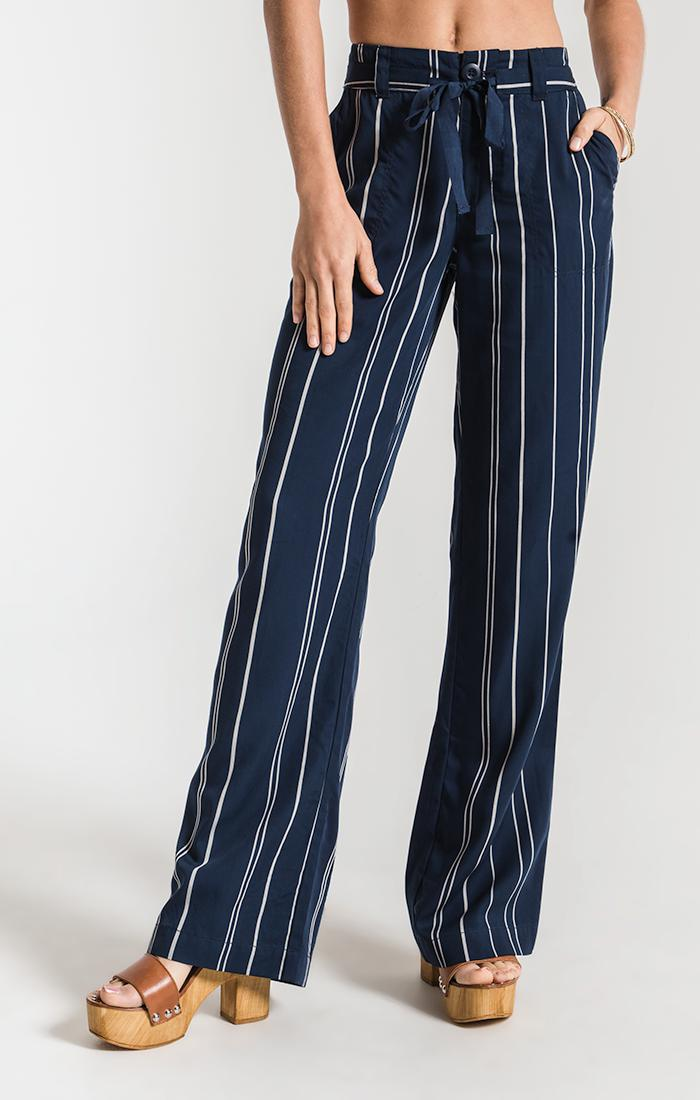 Pants Colmar Striped Pant By Rag Poets Black Iris